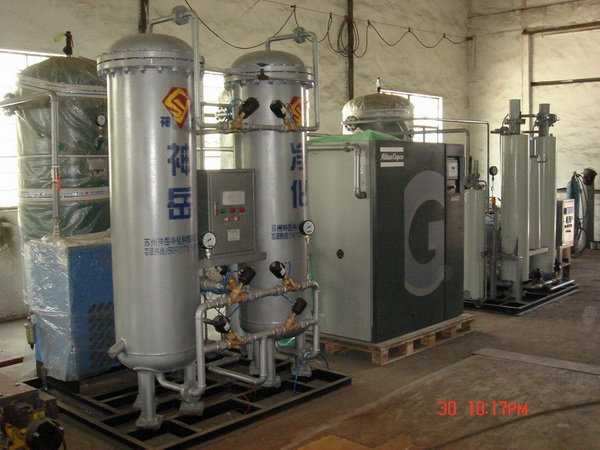 Use of nitrogen making unit in silicon steel production