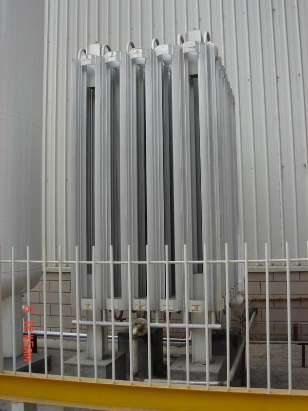 为粉末冶金厂生产的液氮汽化器装置